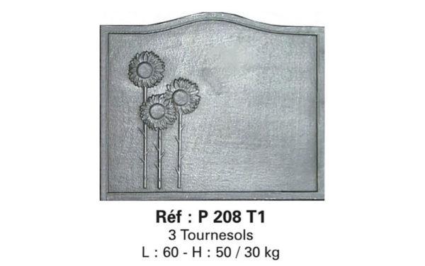 Placa decorativa din fonta