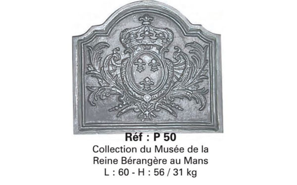 Placa decorativa din fonta